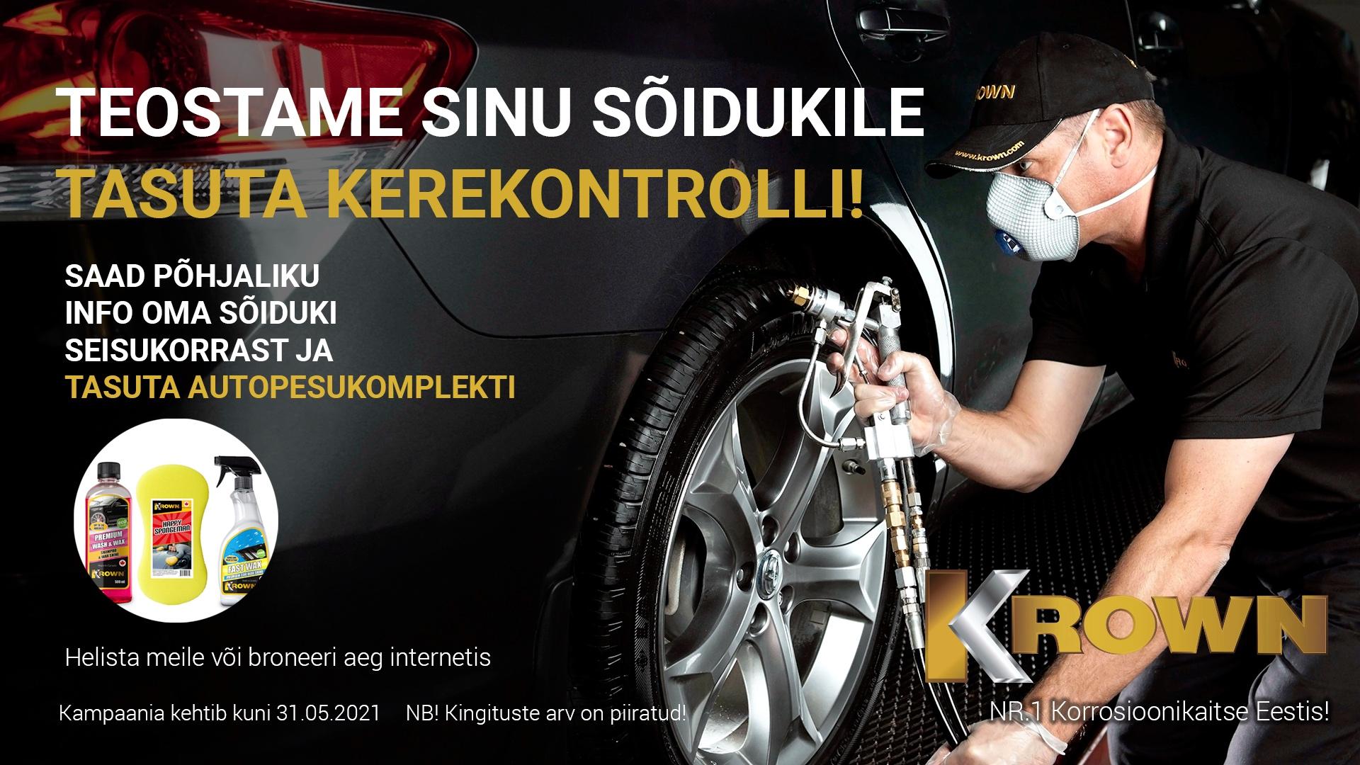 Teostame Sinu sõidukile tasuta kerekontrolli!